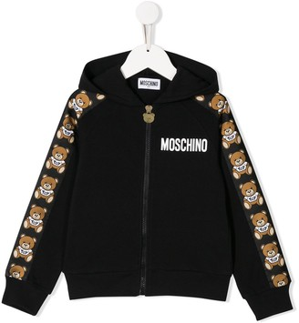 MOSCHINO BAMBINO Hooded Track Jacket