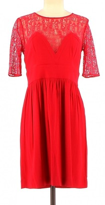 Sandro Red Synthetic Dresses