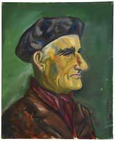 One Kings Lane Vintage Midcentury Gentleman with Beret Portrait Art
