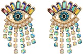 Betsey Johnson Colorful Evil Eye and Fringe Earrings Earring