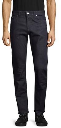 HUGO BOSS Textured Regular-Fit Dark Jeans