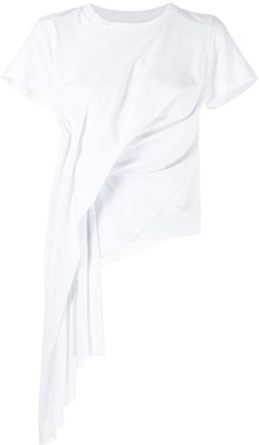 Marques Almeida draped cap sleeve T-shirt