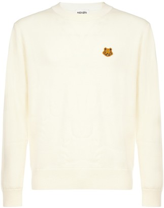 Kenzo Tiger Logo Patch Sweater