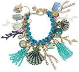 Betsey Johnson Glitter Reef Charm Bracelet
