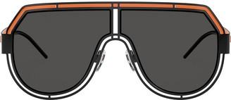 Dolce & Gabbana Eyewear Oversized Logo Sunglasses