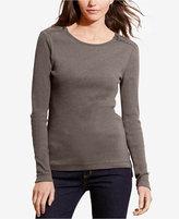 Lauren Ralph Lauren Petite Zip-Shoulder Top