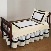 Baby Doll Bedding Ecru Chocolate Bordered Toddler Bedding