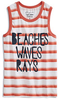 Lucky Brand Dark Red & White Stripe 'Rays' Tank - Boys