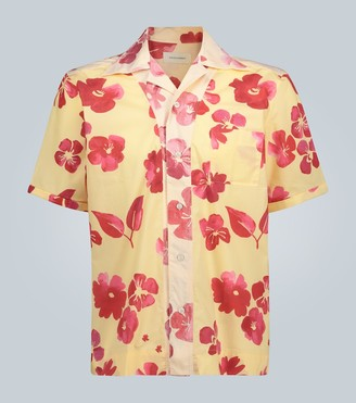 Wales Bonner Oversized flower-print shirt