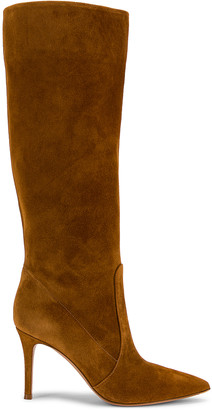 Gianvito Rossi Suede Boots in Almond | FWRD
