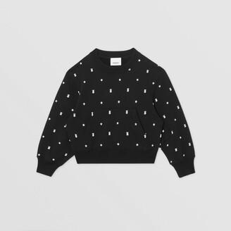 Burberry Childrens Star and Monogram Motif Cotton Sweatshirt