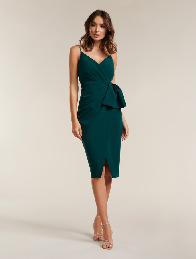 Forever New Alexis Wrap Midi Dress - Bright Emerald - 4