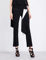 Givenchy Contrast-panel straight high-rise crepe trousers