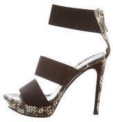 Fendi Snakeskin Multistrap Sandals