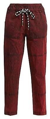 Proenza Schouler White Label Women's Drawcord Crinkle Cotton Pants