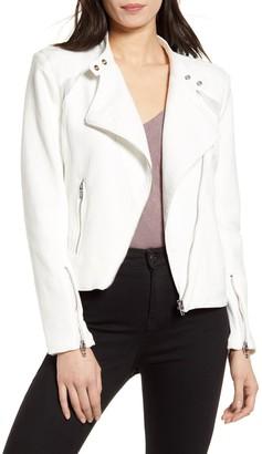 Blanknyc Denim Mesh Panel Moto Jacket