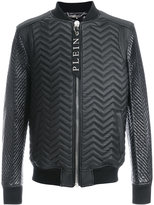 Philipp Plein quilted leather bomber - men - Sheep Skin/Shearling/Polyamide - L