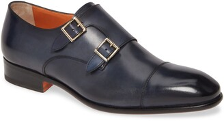Santoni Innocent Double Monk Strap Shoe