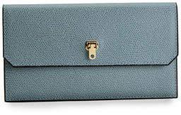 Valextra Textured Leather Flap Wallet