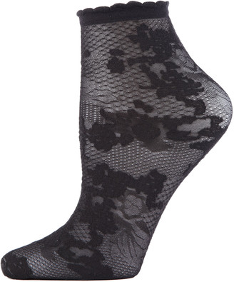 Natori Floral Lace Ankle Socks