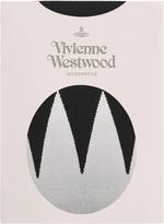 Vivienne Westwood Black Zig Zag Tights Size M-L