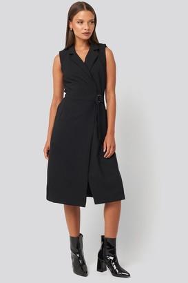 Trendyol Buckle Detail Midi Dress Black