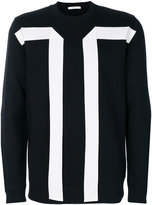 Givenchy contrast panel sweatshirt