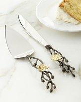 Michael Aram Gold Orchid Wedding Cake Knife & Server