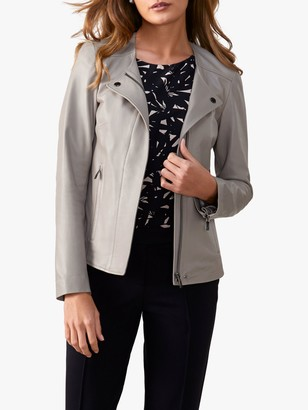 Pure Collection Revere Collar Jacket, Soft Grey