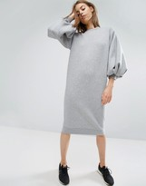 Asos Balloon Sleeve Sweat Dress