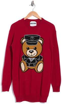 Moschino Moto Bear Wool Sweater Dress