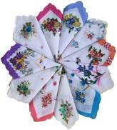 Topshop Top Shop FTSUCQ Womens/Girls Vintage Multi Floral Wedding Party Cotton Handkerchiefs,36pcs Sets