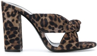 Saint Laurent Bianca 100mm leopard-print mules