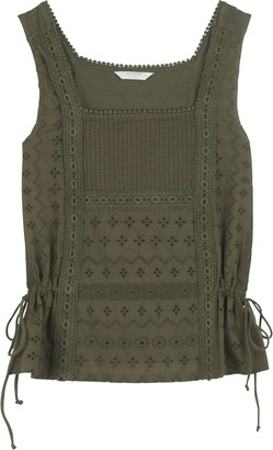 Lucky Brand Mixed Media Side Tie Tank