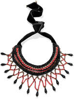 Etro Crystal And Bead Necklace - Black