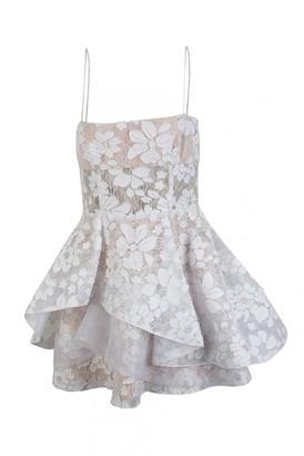 Alex Perry White Lace Dresses