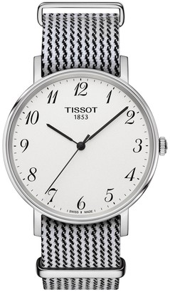 Tissot Men's Every Time Textile Strap Watch, 38mm