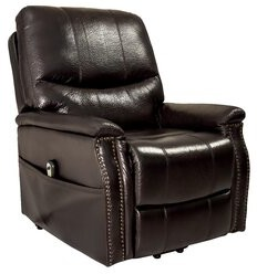 """Thumbnail for your product : Alcott Hill Rosinski 36.5"""" Wide Power Lift Assist Standard Recliner Fabric: Brown"""