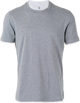 Brunello Cucinelli neck detail T-shirt - men - Cotton - L