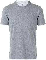 Brunello Cucinelli neck detail T-shirt - men - Cotton - S