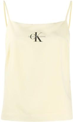 Calvin Klein Jeans Logo Print Cropped Tank Top