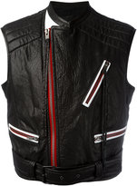 Haider Ackermann contrast zip detail jacket - men - Cotton/Calf Leather/Rayon - 48
