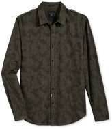GUESS Men's Camo-Print Jacquard Shirt