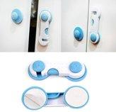 IRISMARU 1 Pair Baby Safety Lock Door Drawer Cabinet Cupboard Fridge Lock