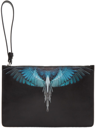 Marcelo Burlon County of Milan Black and Blue Wings Pouch