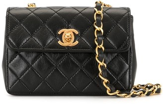 Chanel Pre Owned 1990 Mini Diamond Quilted Shoulder Bag