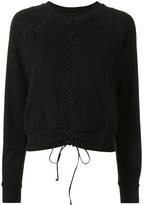 Unravel Project front lace-up sweatshirt