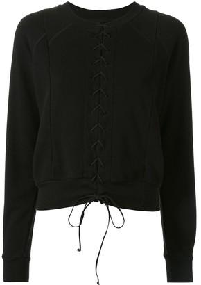 Unravel Project Lace Front Sweatshirt