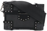 Karl Lagerfeld Paris Treasure studded clutch bag