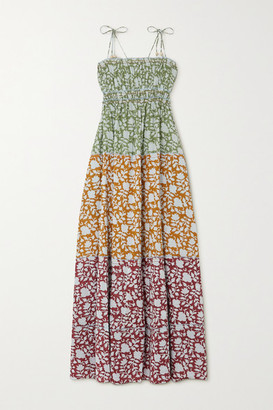 HANNAH ARTWEAR Net Sustain Sunhara Tiered Printed Cotton Maxi Dress